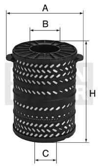 H341790 Масляный фильтр Mann filter - фото 7806