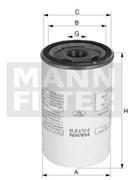 LB962/6 Фильтр маслоуловитель Mann filter