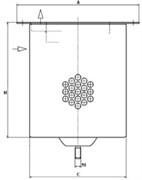 LE10003X Воздушно-масляный сепаратор 250_170_180 Mann filter