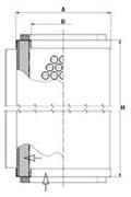 LE10016 Воздушно-масляный сепаратор 108_73_285 Mann filter