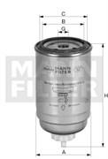 PL50 Фильтр топливный для системы PRELINE Mann filter